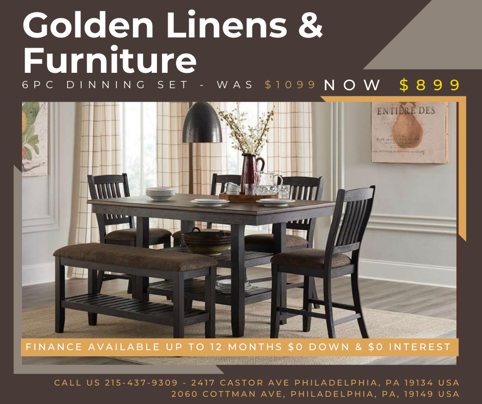 6 pieces dinning set - was $1099 - now $899