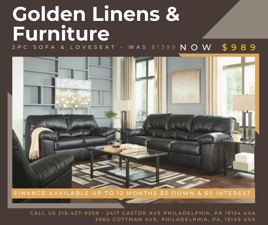 2 pieces sofa & loveseat - was $1399 - now $989