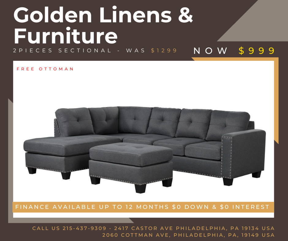 2 pieces sectional - was $1299 - now $999
