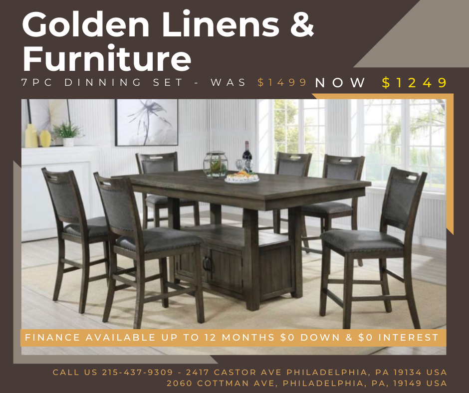 7 pieces dinning set - was $1499 - now $1249