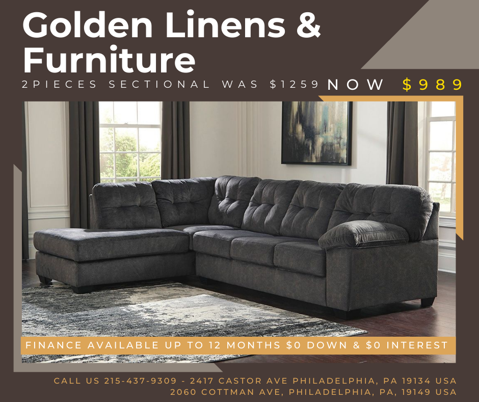 2 pieces sectional was $1259 - now $989