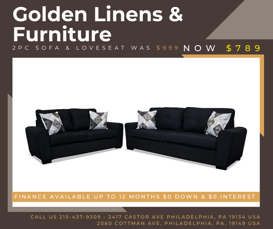 2 pieces sofa & loveseat was $999 - now $789