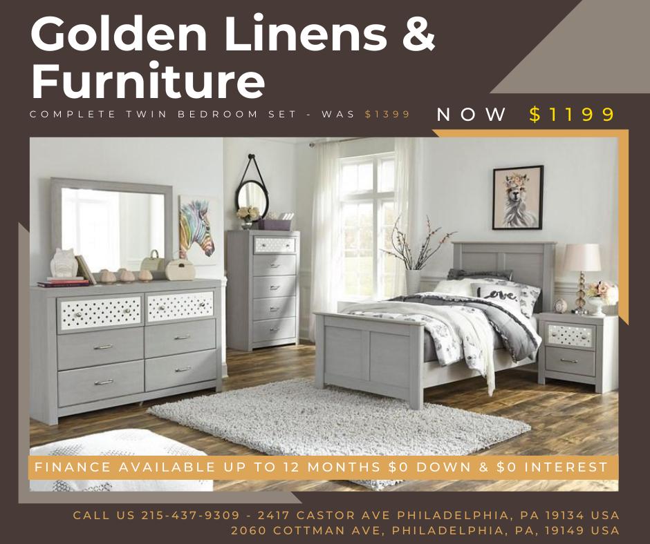 Complete twin bedroom set - was $1399 - now $1199