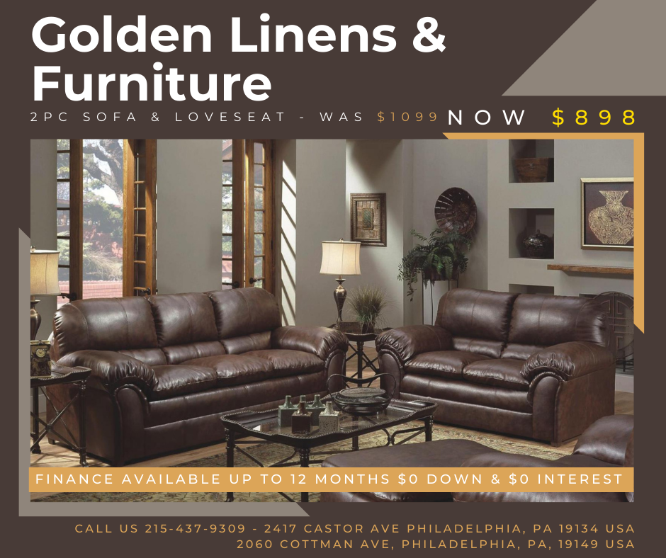 2 pieces sofa & loveseat - was $1099 - now $898