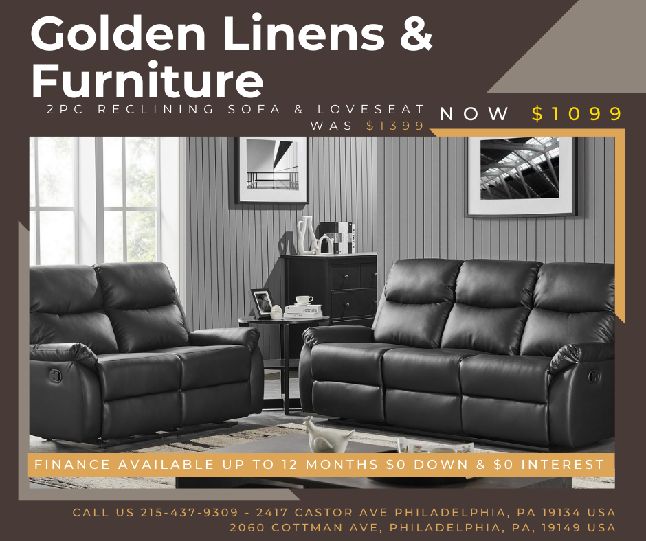 2 pieces reclining sofa & loveseat - was $1399 - now $1099