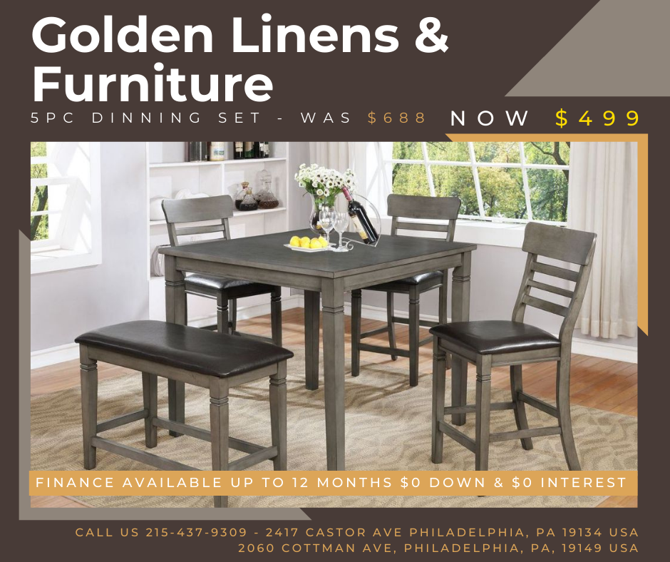 5 pieces dinning set - was $688 - now $499