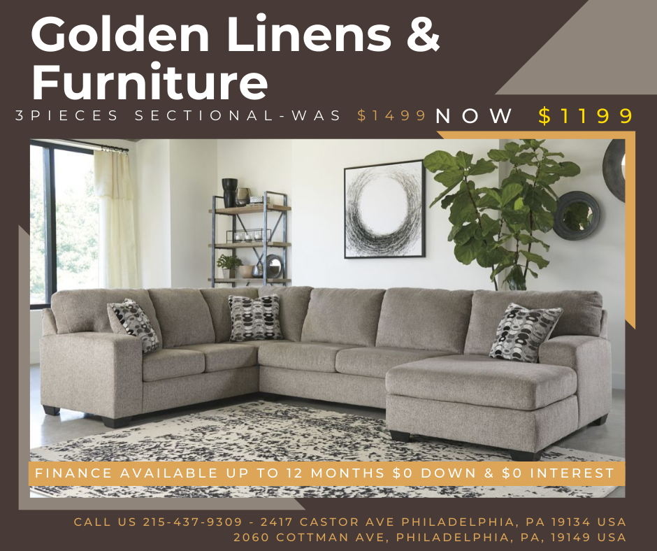 3 pieces sectional-was $1499 - now $1199
