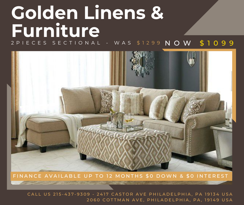 2 pieces sectional - was $1299 - now $1099